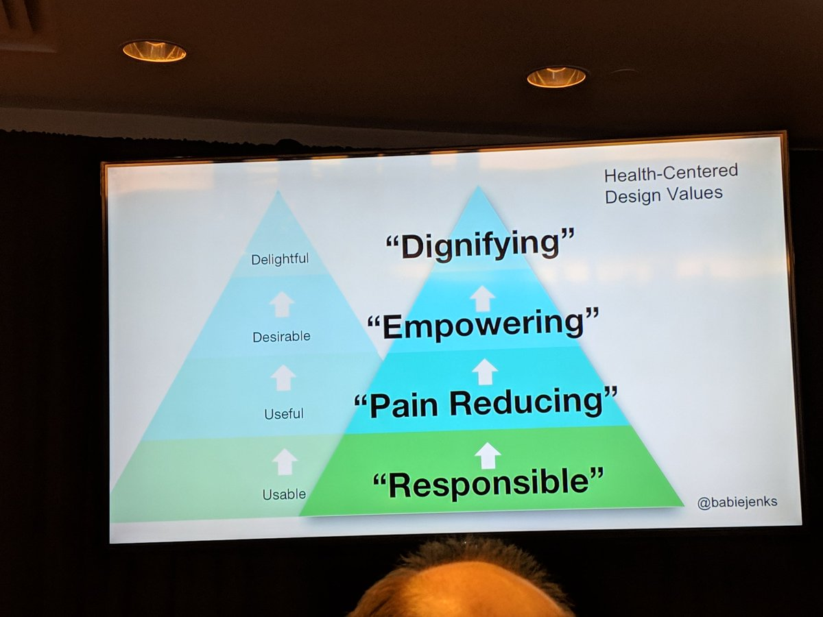 @babiejenks I related to your talk as a designer for a dialysis EHR where the persuasive design model makes no sense. We want to empower clinicians and make them feel competent and efficient. Our internal solution doesnt concern itself with growth and adoption #HXD2019