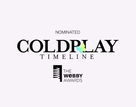The Coldplay Timeline has been nominated for Best Music Website at this years @TheWebbyAwards! You can vote for it to win at cldp.ly/webbys19 (thanks everyone). A
