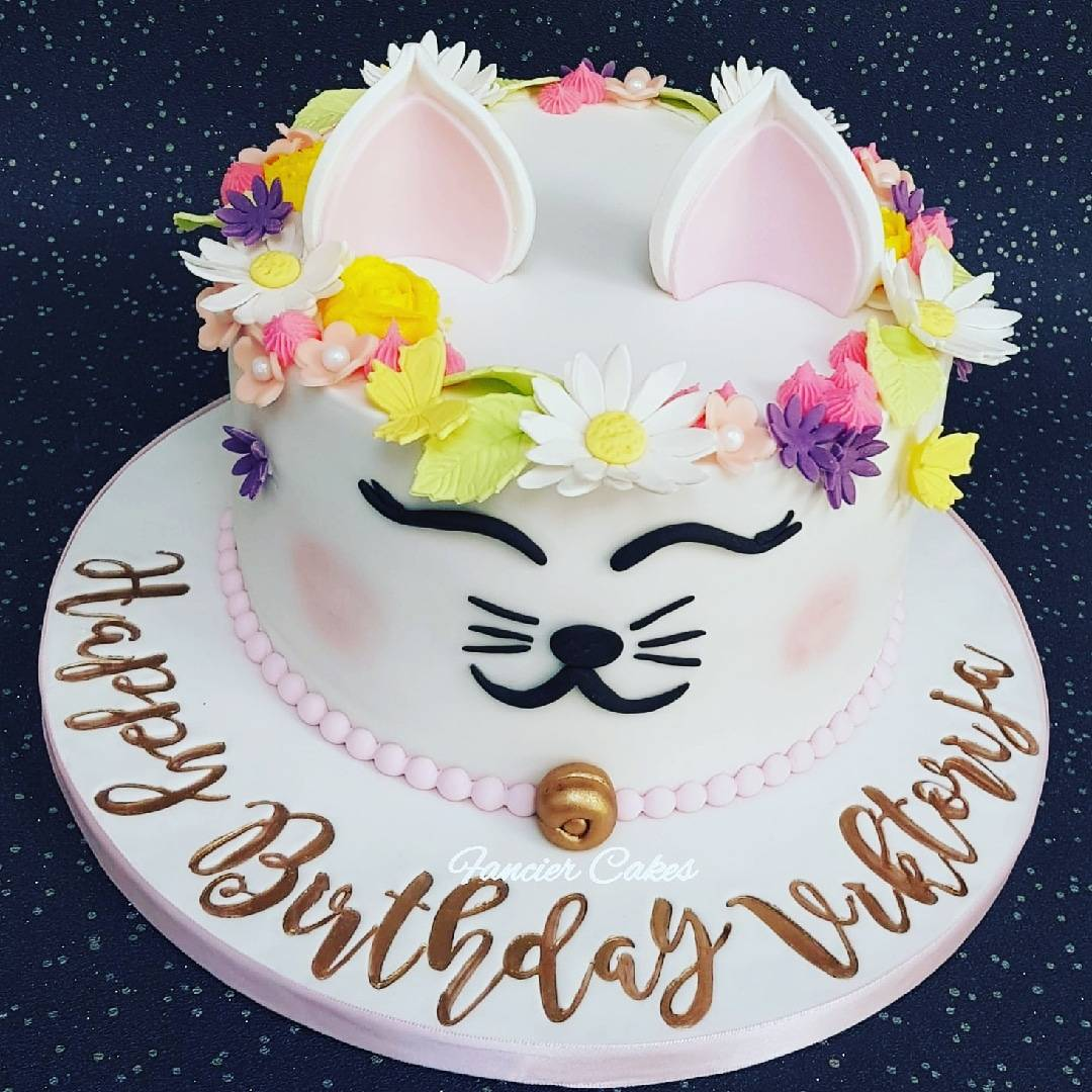 Admirable Fancier Cakes On Twitter Love This Kitty Cat Cake Adorned With Personalised Birthday Cards Veneteletsinfo