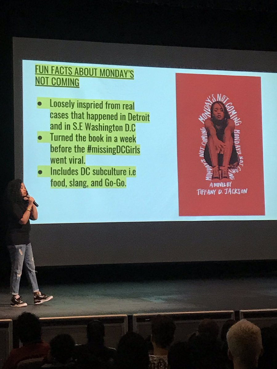 Really enjoyed author Tiffany Jackson's presentation of Monday's Not Coming today &amp; hearing more of her inspiration behind it. Thank you for sharing with us &amp; signing our books!  <a target='_blank' href='http://twitter.com/WriteinBK'>@WriteinBK</a> ❤️ <a target='_blank' href='http://twitter.com/Hbwlibrary'>@Hbwlibrary</a> <a target='_blank' href='http://twitter.com/HBWProgram'>@HBWProgram</a> <a target='_blank' href='https://t.co/3iylQNzIgz'>https://t.co/3iylQNzIgz</a>