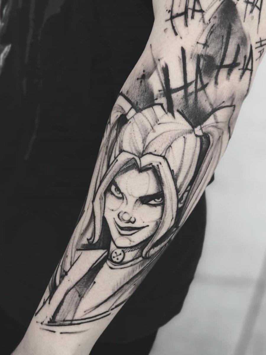 Harley Quinn Tattoo Black And Grey Best Tattoo Ideas