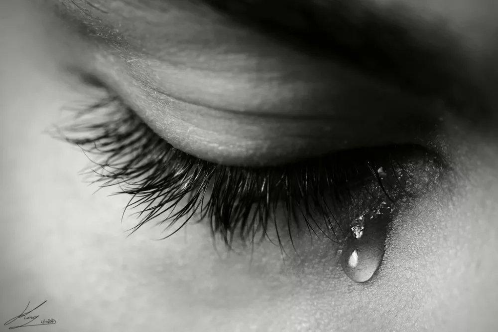 Открытка слезы и печаль и радость