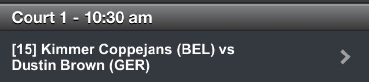 @DreddyTennis faces Kimmer Coppejans (BEL) tomorrow 10.30am on Court 1.