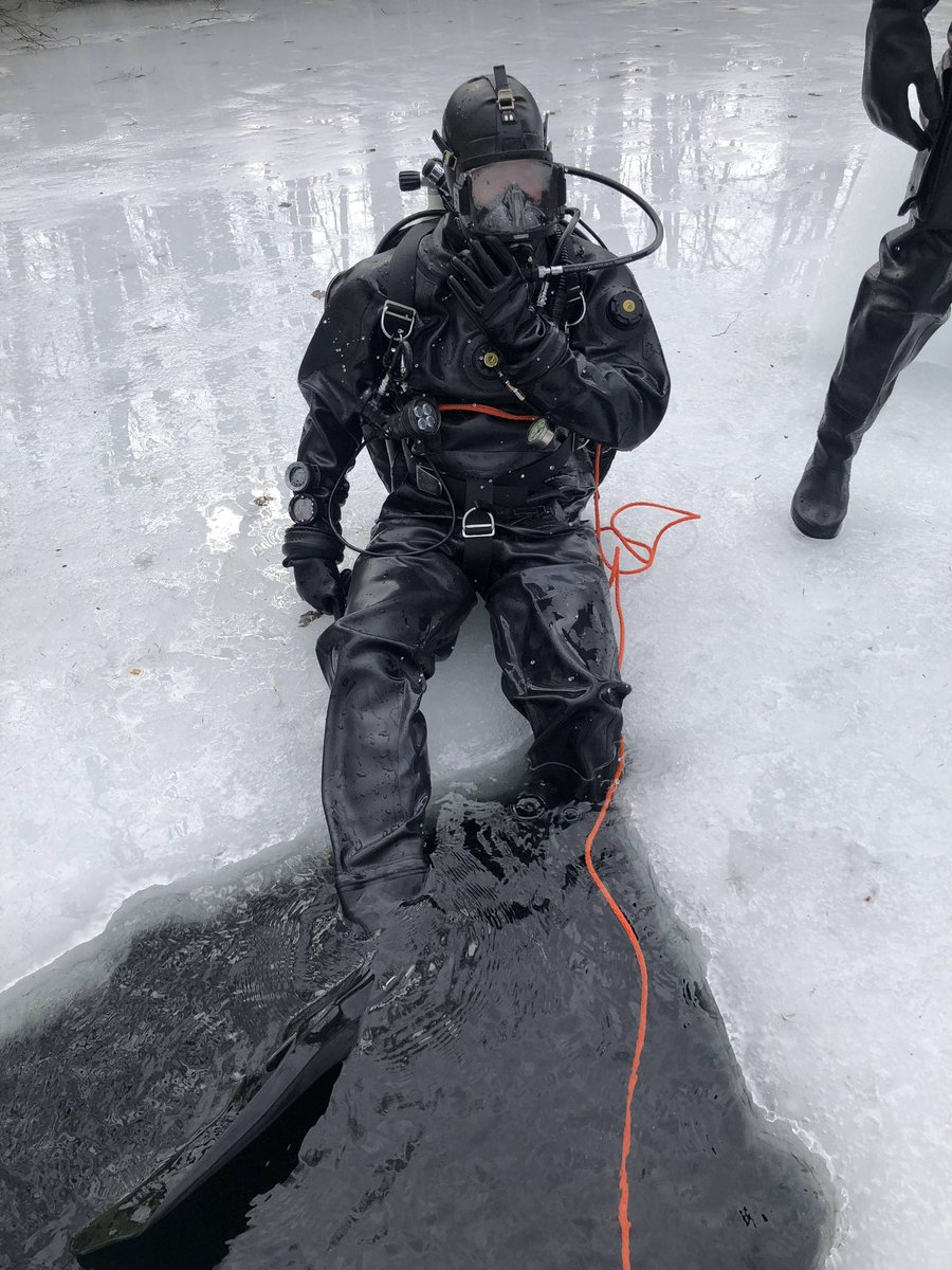 Even diving in ice water, the drone was running hot.