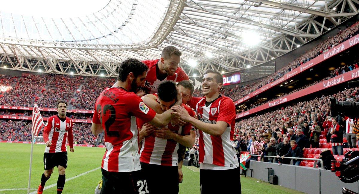 Avec cette victoire de justesse, l'Athletic est imbattu à San Mamés en Liga depuis octobre ! Grand travail collectif aujourd'hui. #AthleticLevante