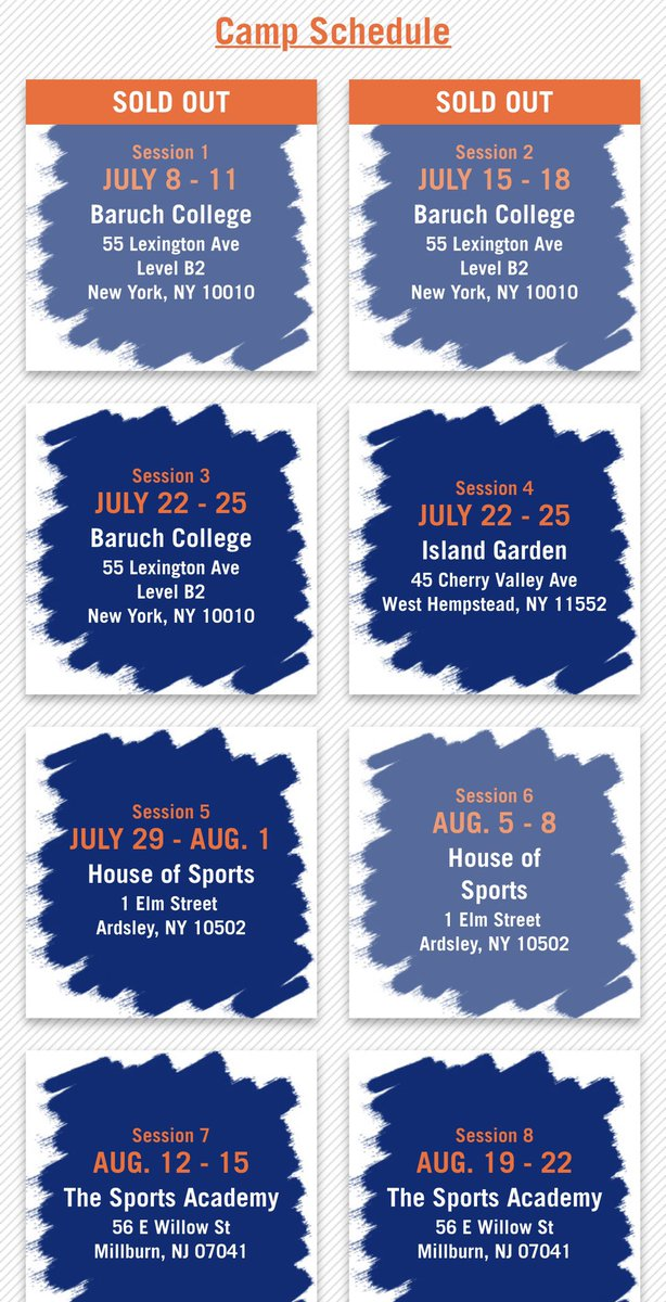 Junior Knicks Summer Camp sessions 1 & 2 are sold out‼️ All good because we still have 8 more. Register now before it's too late 👉 http://juniorknicks.com  #JrKnicks #Summer