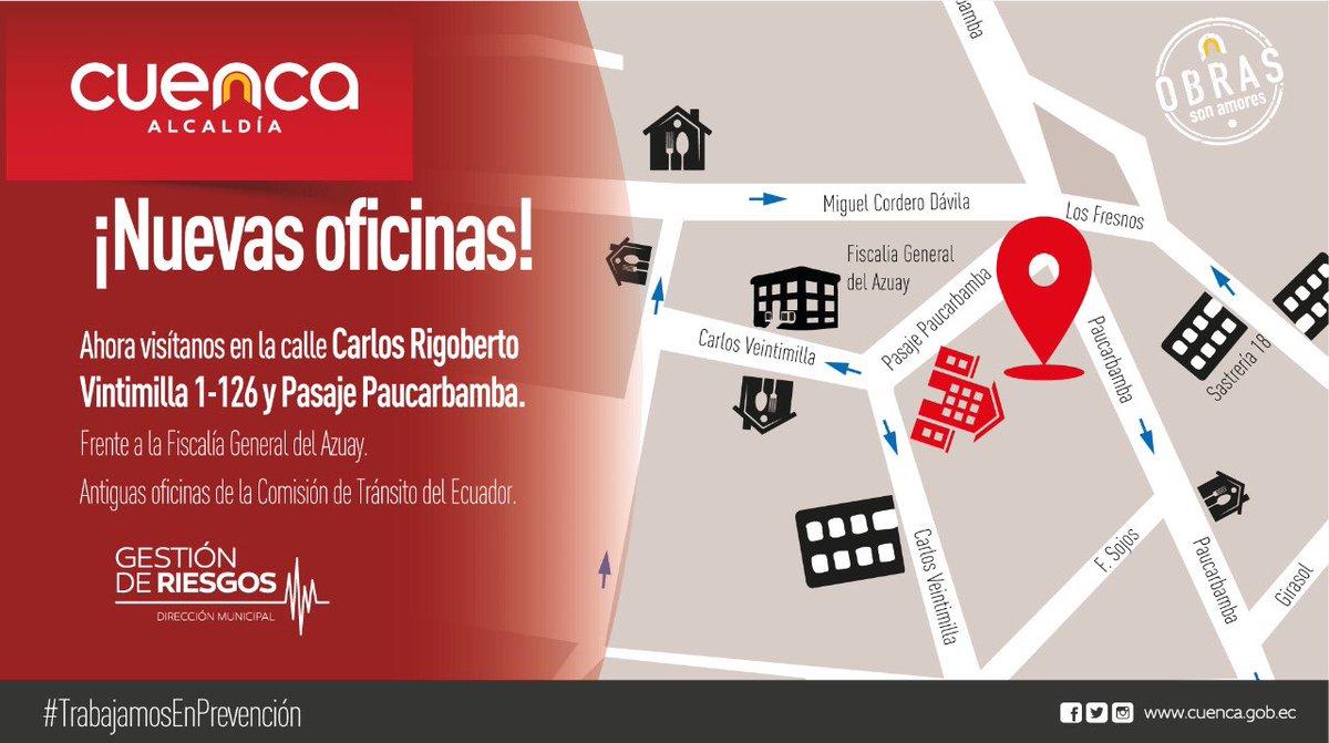 ¡Nuevas Oficinas! 🏢  Ahora nos encuentras en la Carlos Rigoberto Vintimilla 1-126 y Pasaje Paucarbamba 👇🏻  ¡Te esperamos!