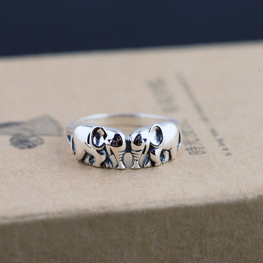 ⭐Beautiful Double Elephant Rings⭐ 🥈925 Sterling Silver🥈  😱 FREE Worldwide Shipping😱  💳 SSL Encrypted Checkout💳  🛒➡️ LINK HERE 🛒➡️https://bit.ly/2uIJFWf