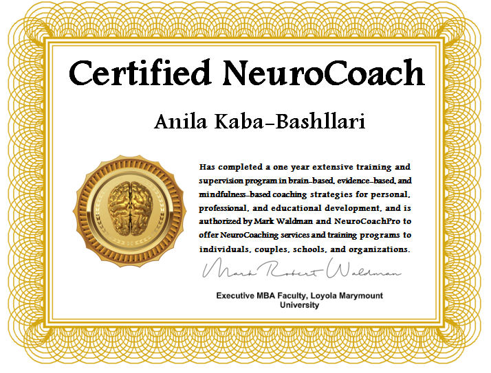 I feel honored and privileged to be certified as a Neurocoach by the Loyola Marymount University, California.  #Neurocoach #lifecoach #mindsetexpert #tirana #albania #shqiperia #anilabashllari<br>http://pic.twitter.com/vFHN9sDOmJ