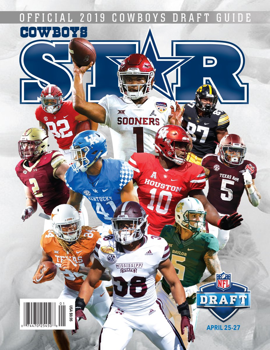 43a359c2094 The Official 2019 Dallas Cowboys Star Magazine Draft Guide is now  available, featuring scouting reports on more than 170 players and a total  of 550 ...