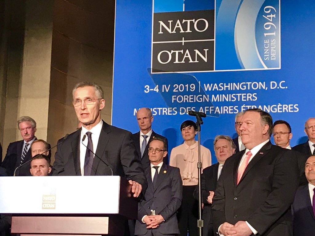 Today we celebrate #NATO's 70th anniversary, in the very same room that the Alliance was founded in 1949. A strong transatlantic bond is key to our common security. NATO has stood the test of time because we keep adapting to new challenges - #EriksenSoreide #Washington #WeAreNato