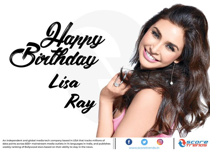Score Trends wishes Lisa Ray a Happy Birthday!!