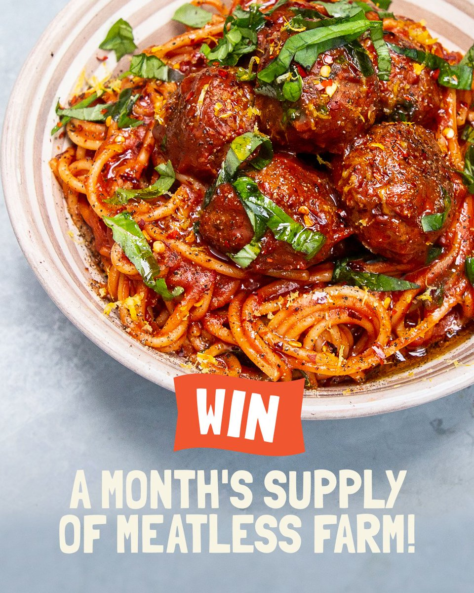 We're a generous bunch at The Meatless Farm, so we're running another competition where you can WIN a month's supply of our delicious plant-based products.  Head over to our Instagram channel to find out how to enter!  #meatless #meatfreenottastefree #competition #plantbased