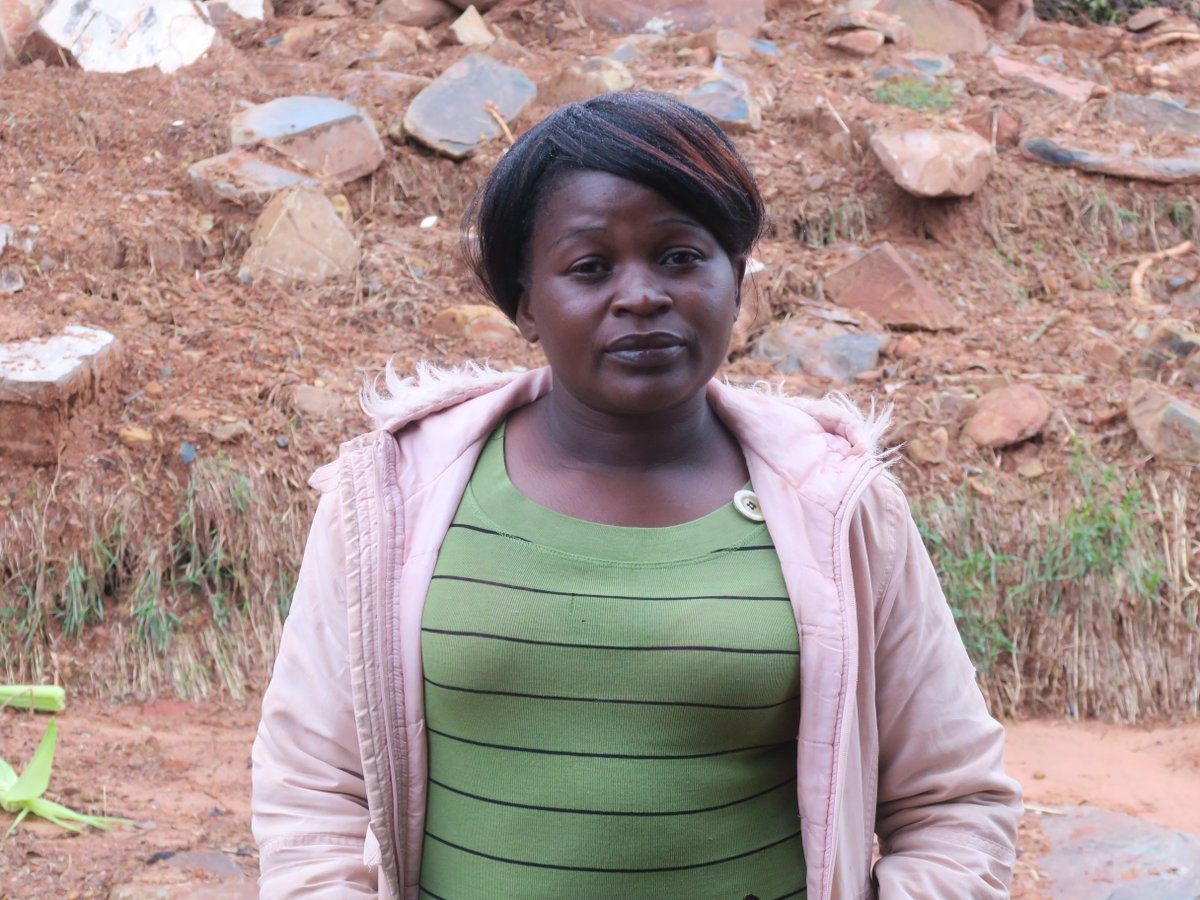 Regina (37) from #Chimanimani had her home destroyed by the cyclone. She continues to hear earth tremors each night between 12 midnight and 2am, a clear sign of mental trauma. She feels stranded and wants to leave the area as soon as possible #CycloneIdai http://bit.ly/2WHqJTF
