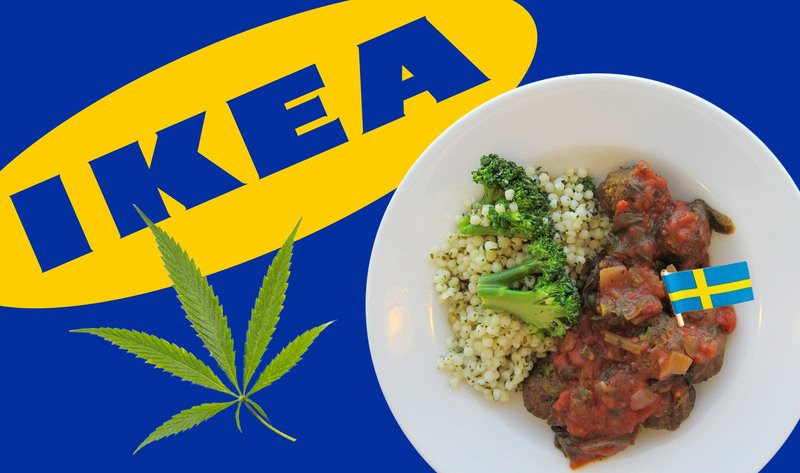 宜家:IKEA 要推出大麻版瑞典素食肉丸!