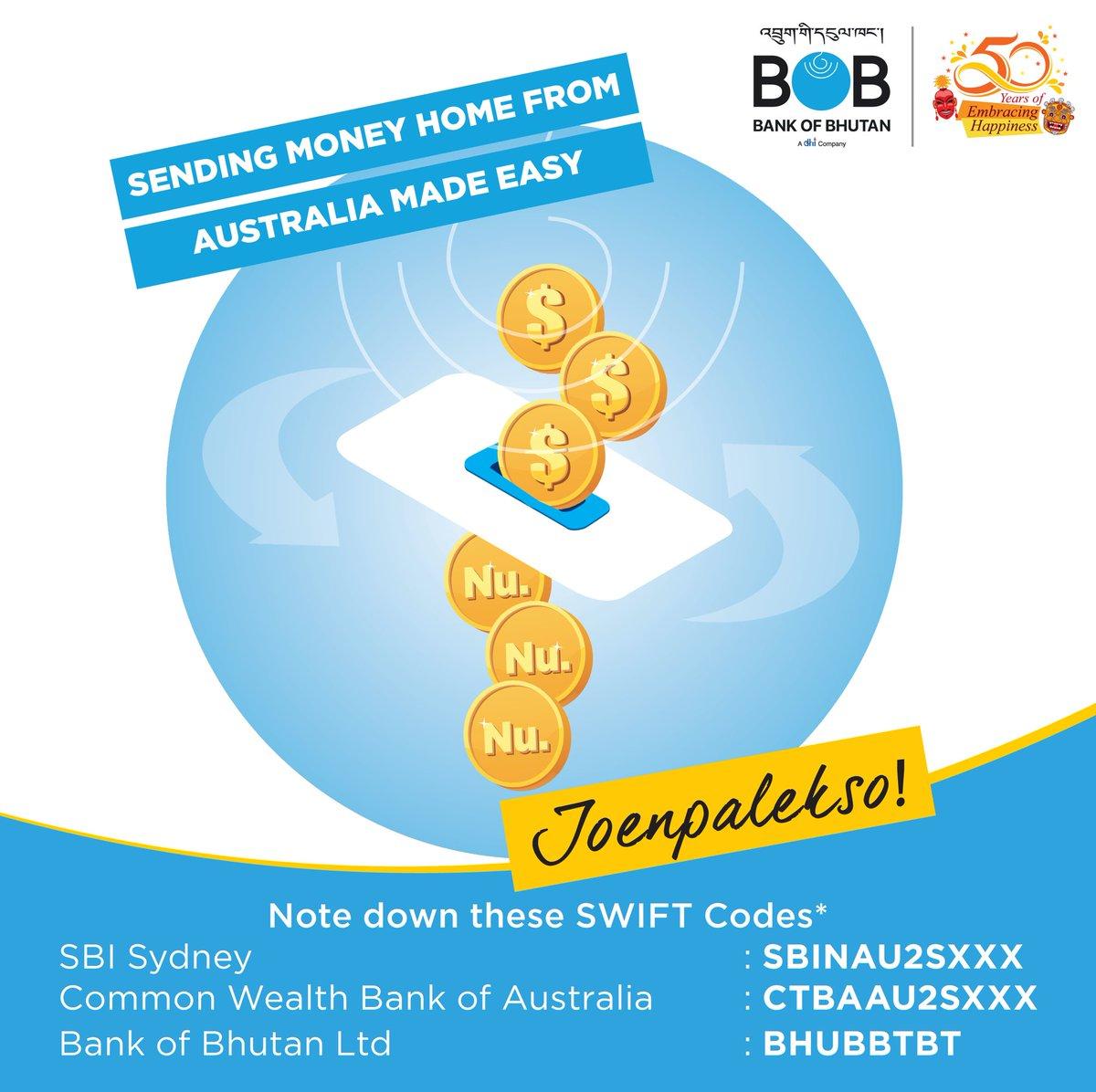 Bank Of Bhutan Ltd On Twitter Sending