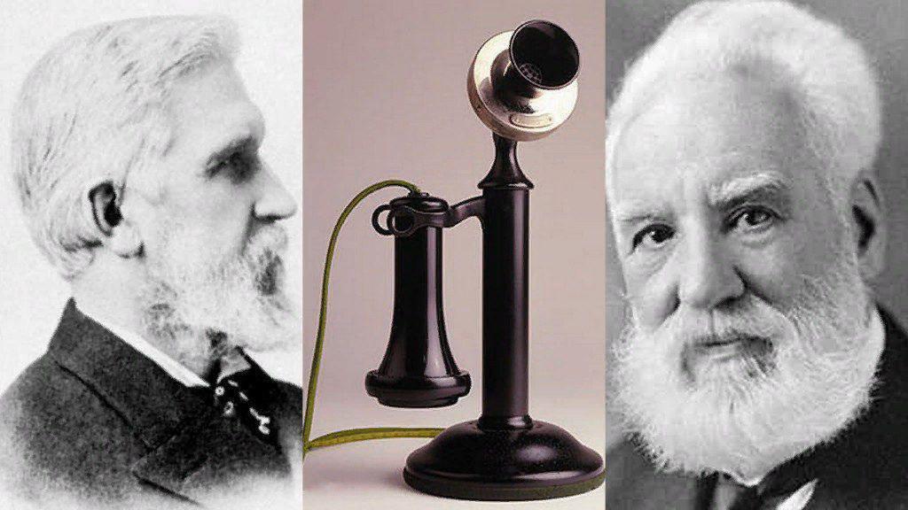 Картинка изобретатель и телефон