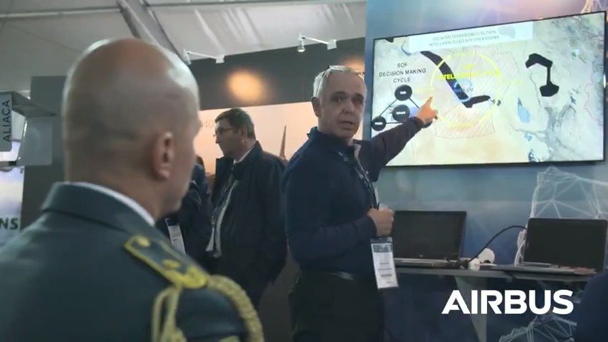 Airbus exhibits for the 1st time its Multi-Intelligence Centre. At #SOFINS2019 visitors got a demo of the platform which allow users to manage the whole intelligence process: from collection&visualization, to utilization&distribution of information, on 1 intuitive&secure platform