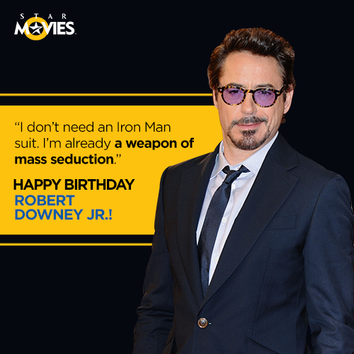 We\re inclined to agree. Happy Birthday to the \Iron Man\, Robert Downey JR.!