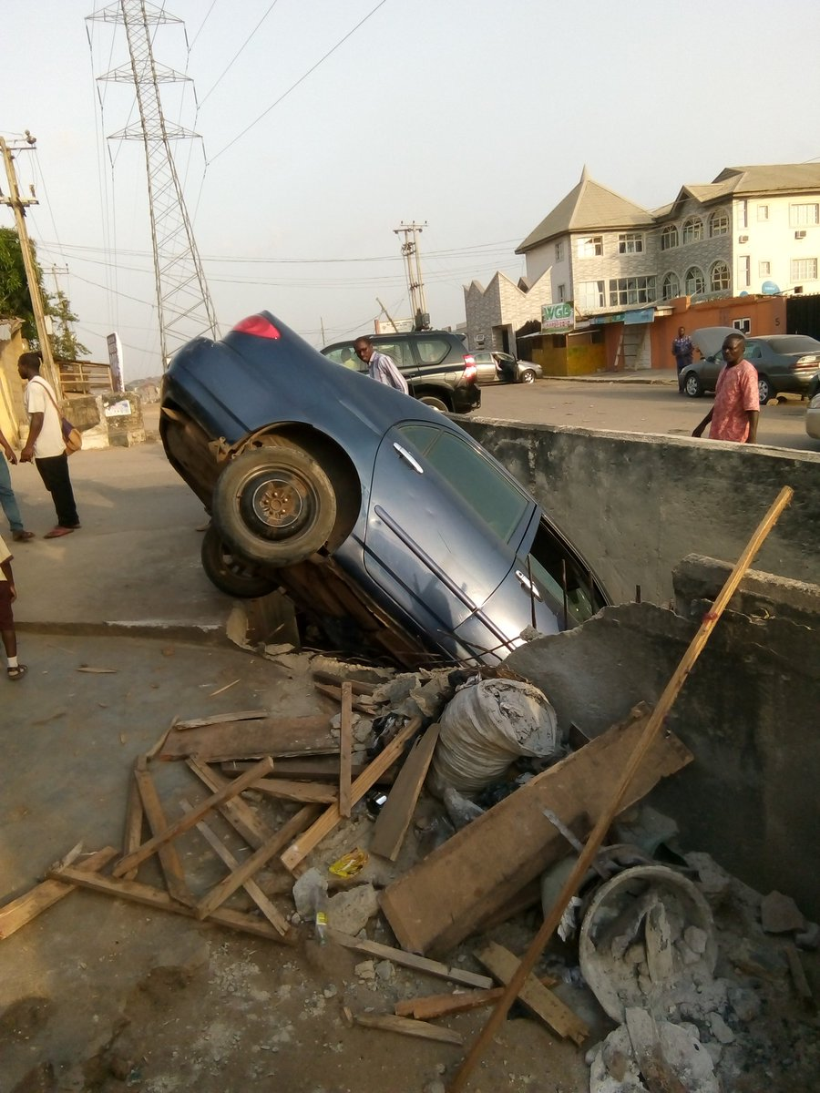 Car Accident At Ogba, Lagos