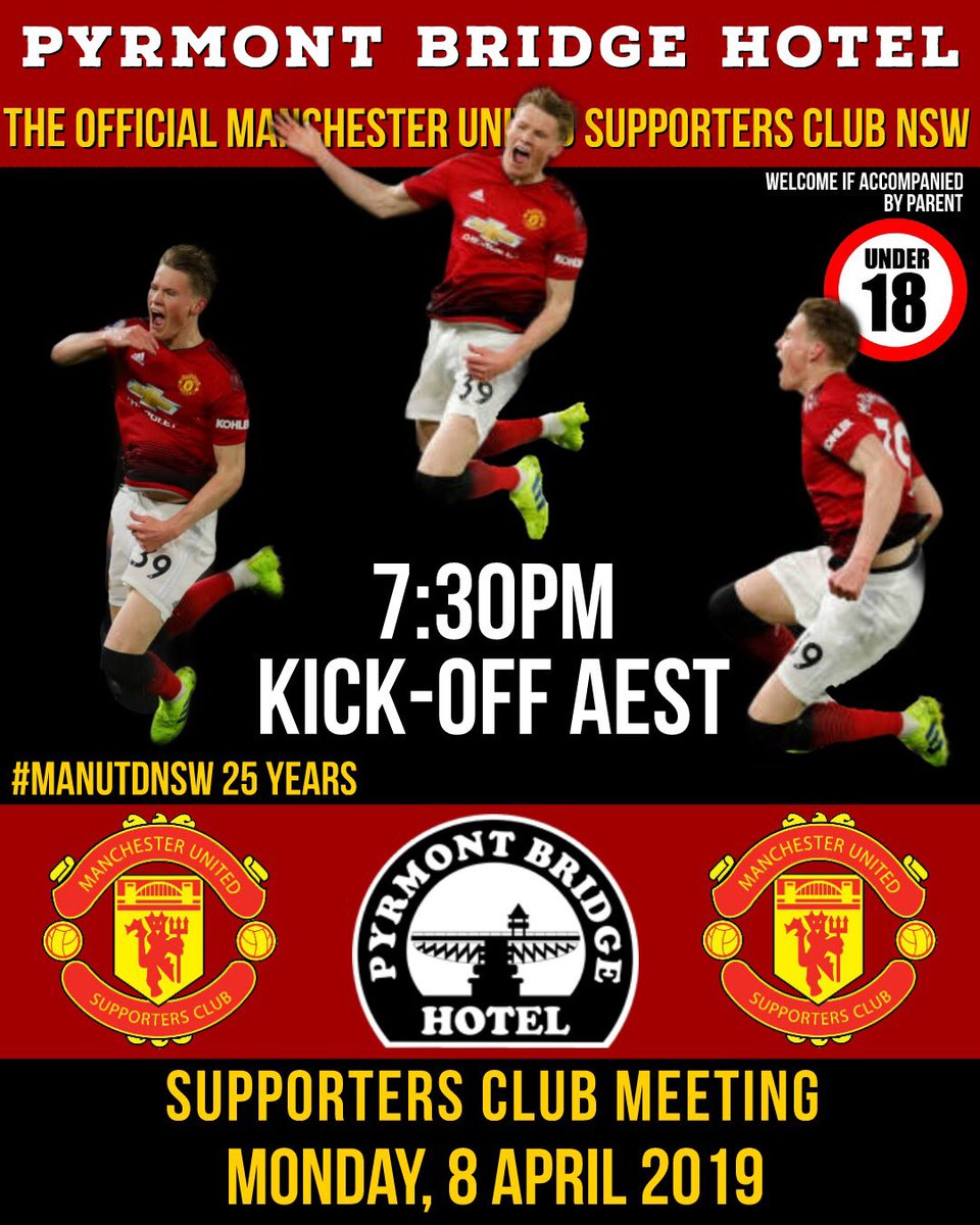 All #Sydney @ManUtd fans welcome to join us on Monday night. Talk all things #MUFCinPerth and the upcoming match against Barca. All welcome #mufc #ManUtdNSW 🇾🇪 https://t.co/Sz53oeNlzX