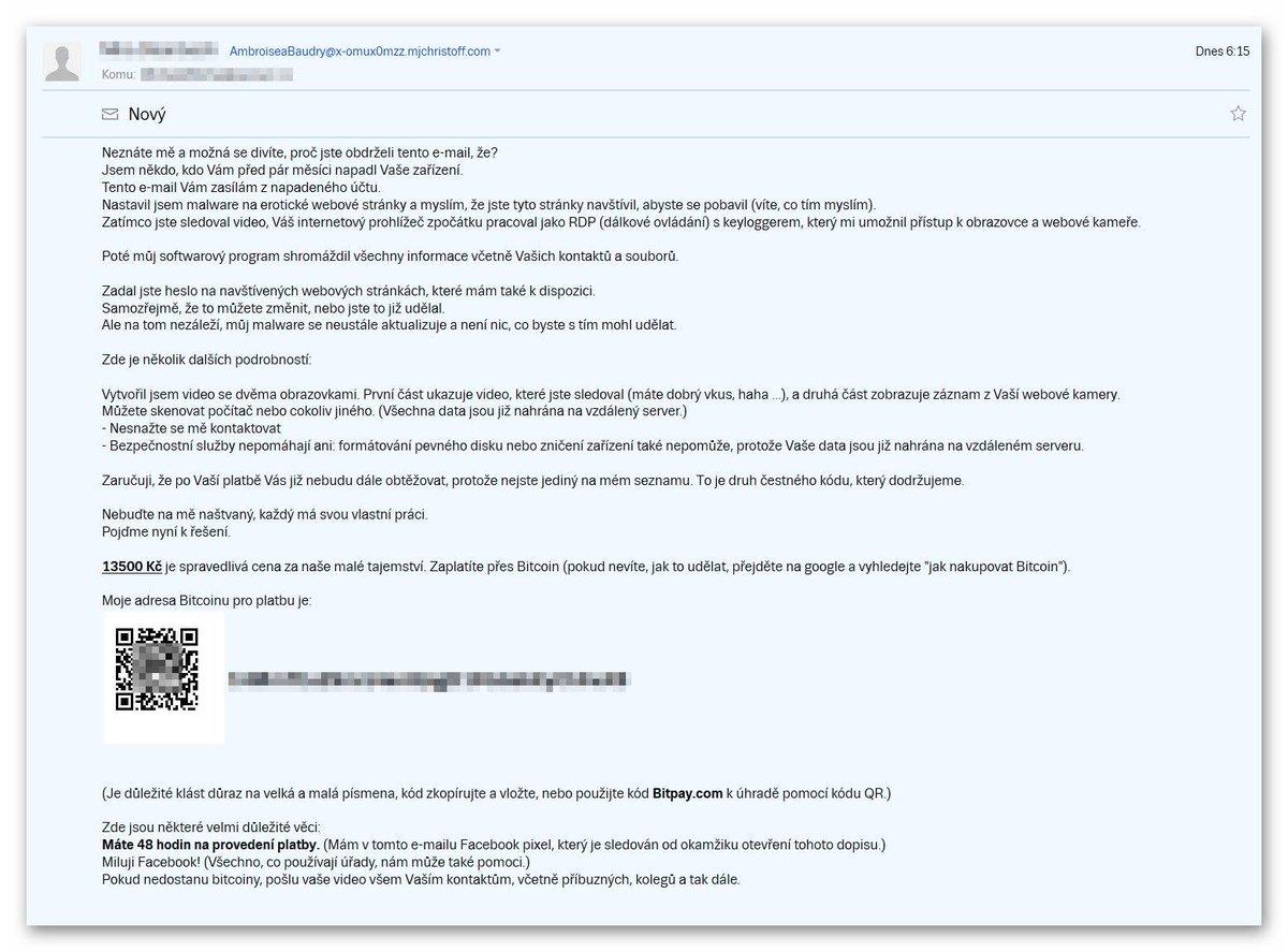 Varujeme před další vlnou podvodných e-mailů! https://www.policie.cz/clanek/web-informacni-servis-zpravodajstvi-podvodne-jednani-na-internetu.aspx…