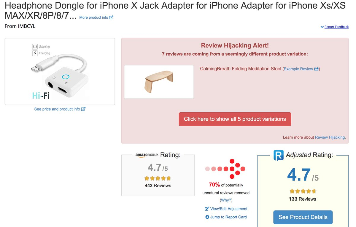 Reviewmeta Amazon Uk B07PGJ7NYQ Why Are You Allowing Clearly Review Hijacked Products To Continue Be Sold On Your Site
