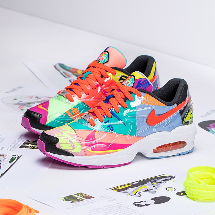 6afaf8b05 ... sneaker boutique atmos on another striking collaboration. The patchwork  Air Max2 Light and corresponding 90s-flavored apparel range will be  available at ...