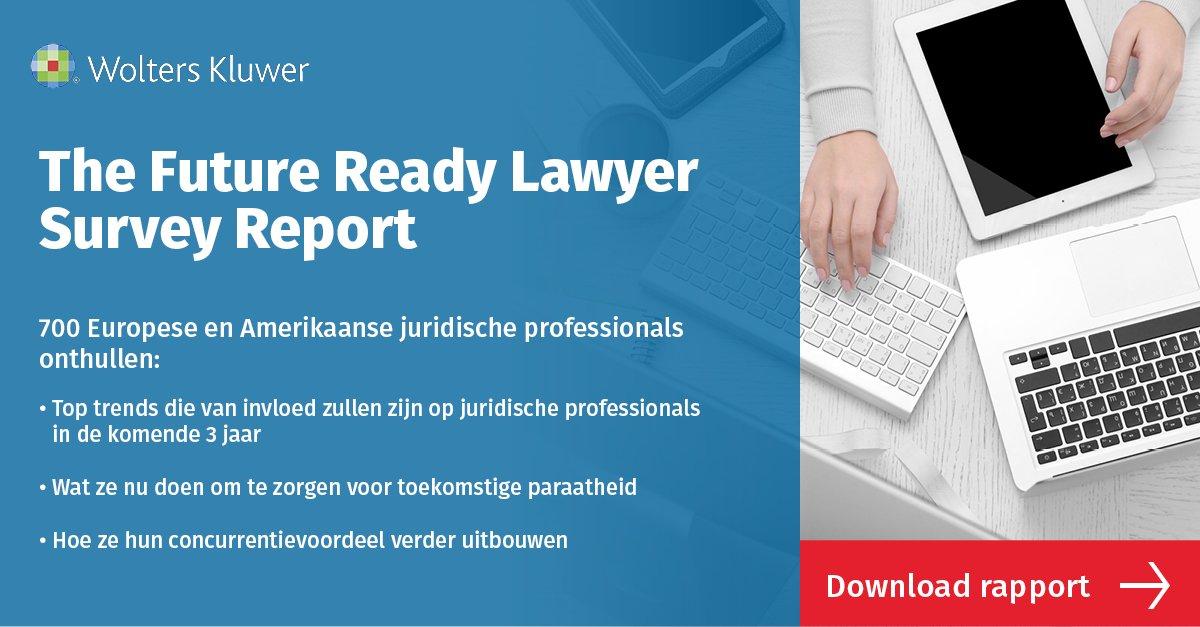 We vroegen 700 #juristen uit Europa en de VS hun mening over veranderingen in het #juridisch beroep; de impact van #technologie en de grote trends. Lees het persbericht + survey rapport hier: https://t.co/nqrbKMFe7q  #legaltech #law cc: @Wolters_Kluwer https://t.co/SuvIonSziE
