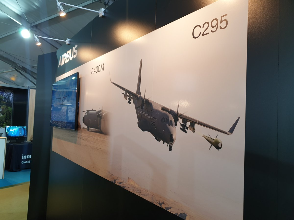 The #C295 is one of our military aicraft plartforms that is optimum for #SpecialForces at #SOFINS2019! It's designed for all environments and operations, from Air Mobility, Air ISR and Air Strike.