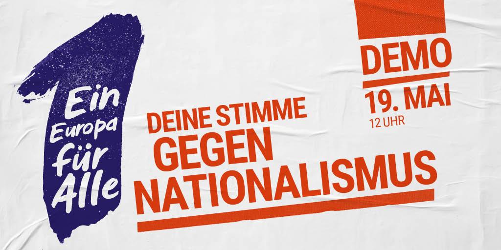 #Europawahl2019 am 26.05 geht uns alle an!  Was man vorab konkret tun sollte:  - Mit anderen über #Europa reden 👉 #DankeFuerEuropa  - Am 19.05. für #1EuropaFuerAlle auf die Straße gehen 👉 Zeichen setzen für Europa der Humanität & Menschenrechte  #DeineStimmeGegenNationalismus