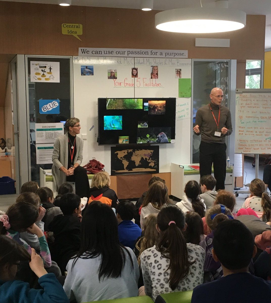 """Amazing #passion sharing session with @aphallam in @ISDFifthGrade! """"How does money relate to happiness? It comes from experiences and time spent with people...choose a job you love so it doesn't have to feel like work."""" @isdedu #WeAreISD #financialliteracy"""