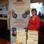 We're telling people about #WarmerDerby&Derbyshire today at the #Time4Ucafe in Chesterfield. Call us if you're struggling with your energy bills or a cold home: 0800 677 1332. @ChesterfieldBC