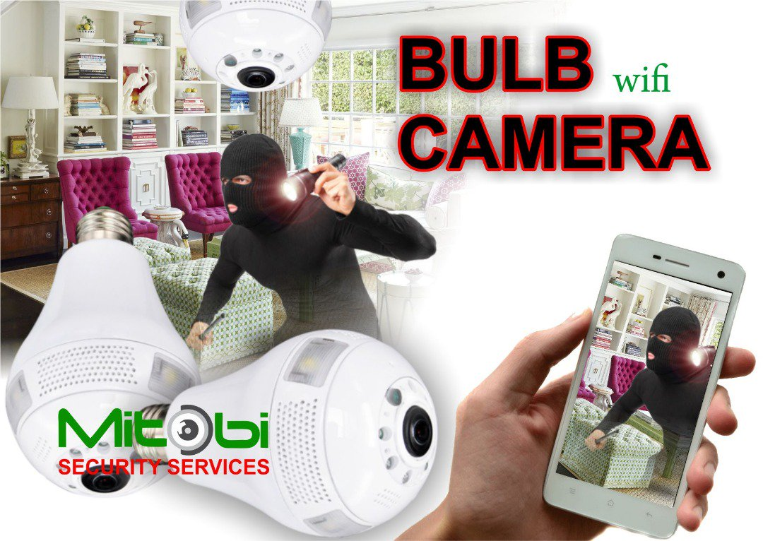 Imagine using a light bulb to monitor your home, amazing right? So you can remotely view your Room, Kitchen, Children, Domestic helps, Stairway and more from your phone anywhere you are in the world with this beautiful Wifi bulb Camera. #networkcamera #bulbcamera #Wifi #mitobi