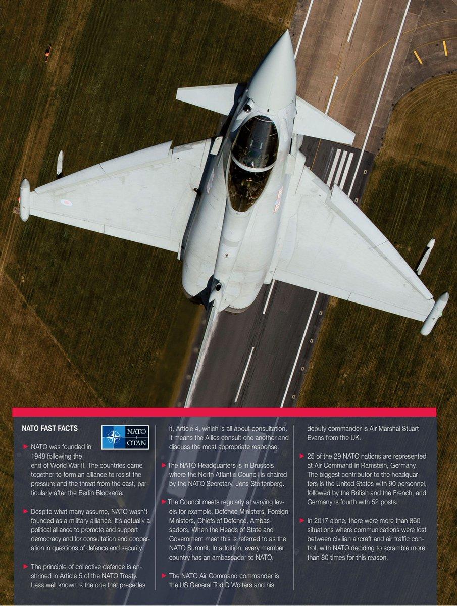 To celebrate @Nato 's 70th anniversary, here are some #Nato #fastfacts: #avgeek #eurofighter #capabilities #WeAreNATO   Copyright: Geoffrey Lee, Planefocus Ltd.