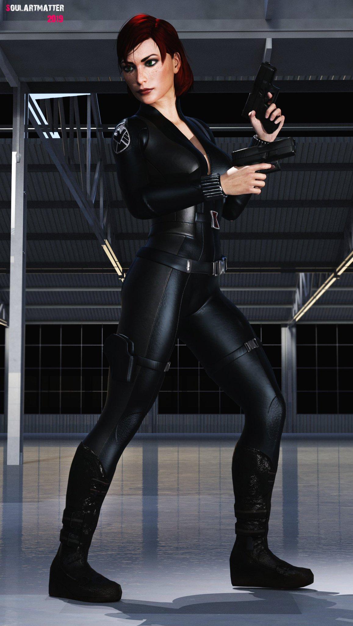 """Black Widow Futa soulartmatter 3d arts on twitter: """"jane shepard cosplay"""