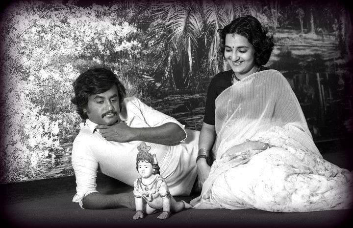 "Indian Movie Rating on Twitter: ""Superstar Rajinikanth with his wife Latha.  Old Photo. #Rajinikanth #Superstar #OldPhoto #Throwback… """