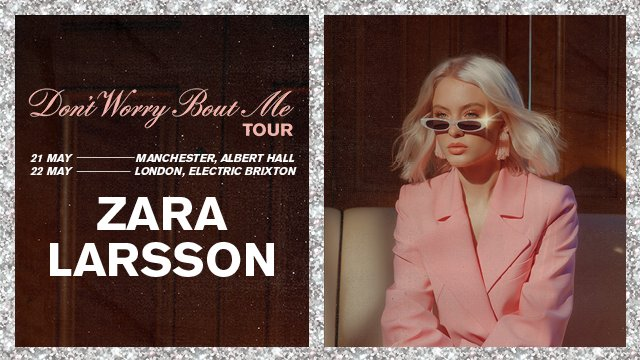 ad846d4d7be zaralarsson is playing two UK shows in May in London and Manchester. Wanna  be there  Hurry