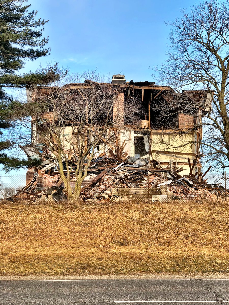 The demolition state of the former county home in Steuben... @1003WLKI