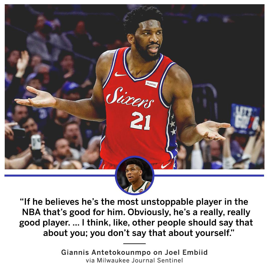Giannis is just being honest with Embiid.