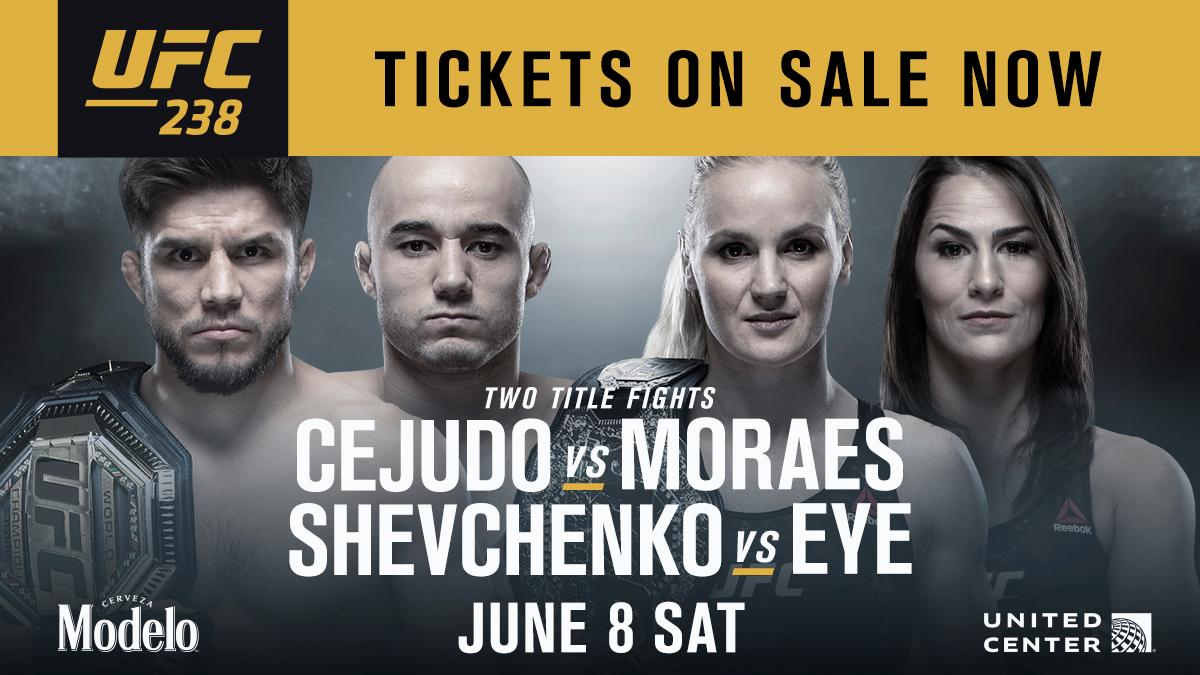CHICAGO! It's time❗️  The @UFC Social pre-sale is LIVE.   Use code: UFCSOCIAL ➡️ http://bit.ly/2UewWtK