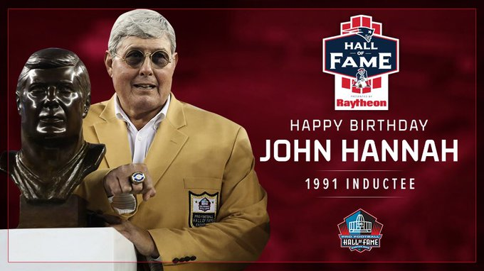 HAPPY BIRTHDAY to the first member of the Hall of Fame, John Hannah
