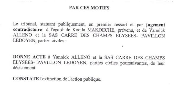 J'ai été poursuivi en diffamation par @Chef_YAlleno pour cette enquête. La procédure a duré près de trois ans. Et une fois au tribunal, il s'est finalement désisté. La conclusion du jugement ⬇️ https://t.co/8r1ix7Wy9k