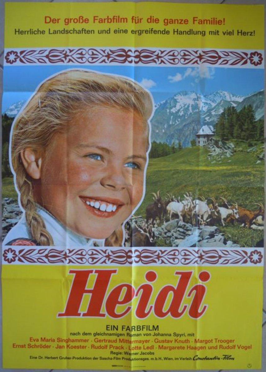 Locandina del film #Heidi, diretto nel 1965 da #WernerJacobs. Prossimamente su Cinema Austriaco. pic.twitter.com/13jz3u596a