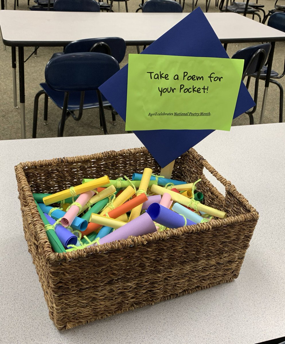 Celebrating #NationalPoetryMonth with Poem in Your Pocket in the #lctitanhill library this checkout cycle