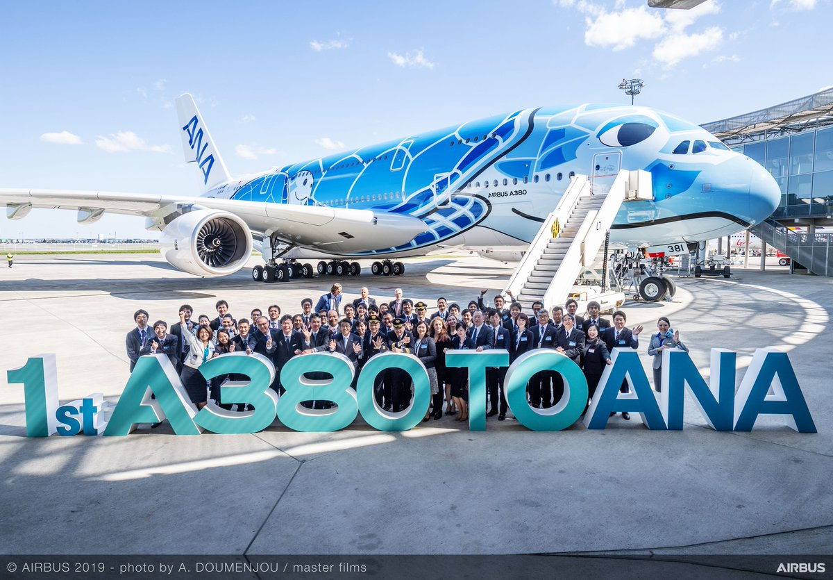 In March, Airbus received orders for 58 aircraft – including 38 #A350 XWBs, while delivering a total of 74 jetliners from across its #A220, #A320, #A330, A350 and #A380 product lines during the month. Learn more: http://bit.ly/AirbusOD