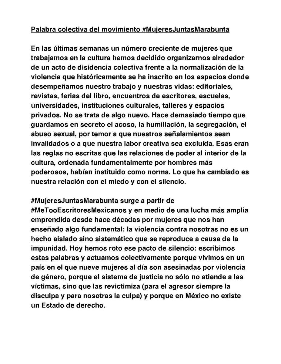 #mujeresjuntasmarabunta #MeTooEscritoresMexicanos