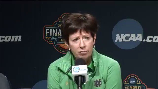 Muffet McGraw: A voice for women. A voice for women in sports. #WFinalFour   @ndwbb