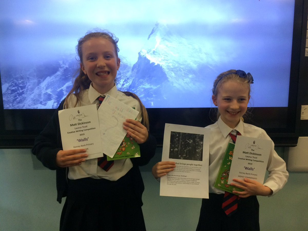 test Twitter Media - Bravo to these two @GorseyY4 girls 👏👍 One for a great journalistic piece and the other for being one of the two winners with a great structured and well written story in the @LaurusTrust @Dickinson_Matt Writing Competition #gorseyenglish ✍️ https://t.co/lVeQG9reGP