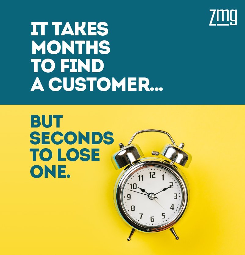 Image result for it takes months to find a customer and seconds to lose one